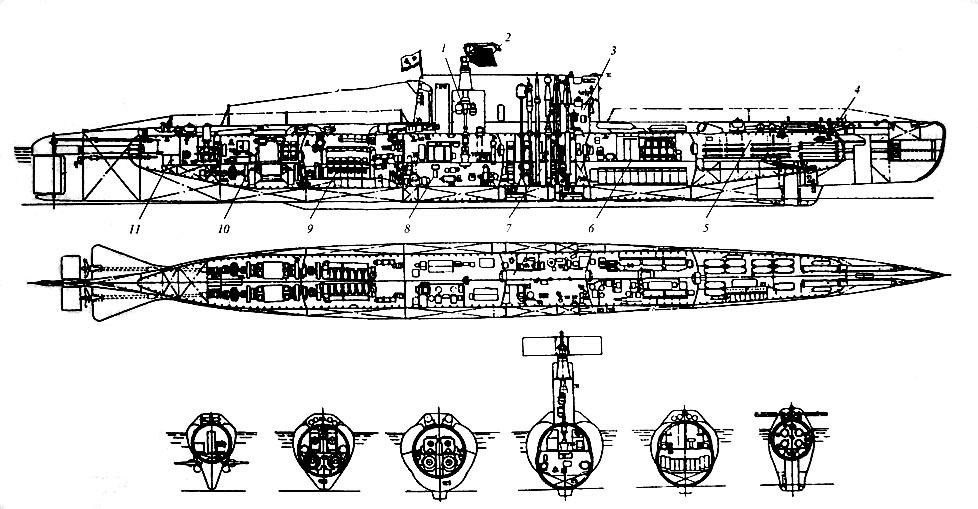 схема подводной лодки 640