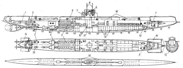 """ПЛ  """"Политрук """" (бывшая  """"Нерпа """") после демонтажа ТА с двумя 75-мм орудиями ситемы Канэ."""